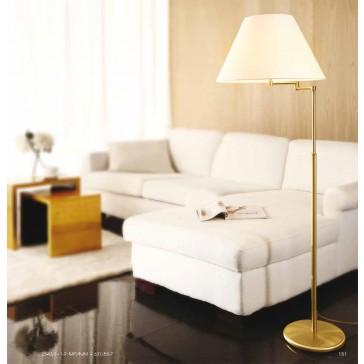 bridge stehleuchte mit stoffschirm. Black Bedroom Furniture Sets. Home Design Ideas