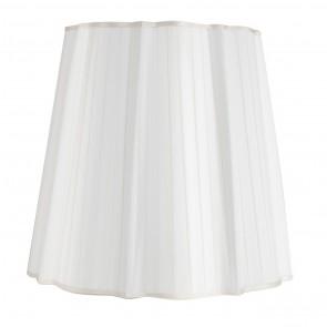 plissierter Stehlampenschirm 0162 Taft weiss