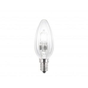 28W  ECO 30 Halogen-Kerzenlampe klar E 14