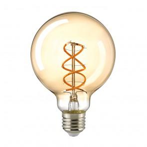 LED Globelampe Curved gold 5 W E 27 95 mm