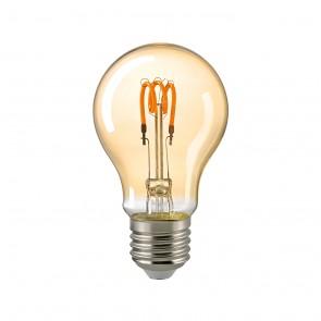 LED-Dekolampe Curved gold E27 2,5 W