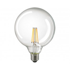 LED Globe Filament E27  125 mm klar