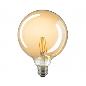 LED Globe Filament E27  125 mm gold