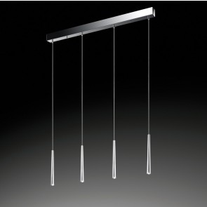 LED-Pendelleuchte Lucid, 4-flg.