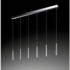 LED-Pendelleuchte Lucid, 6-flg.