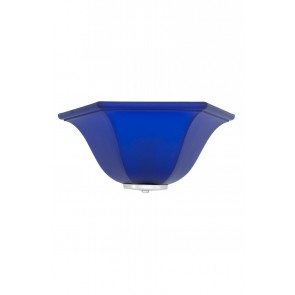 Wandleuchte Muranoglas blau