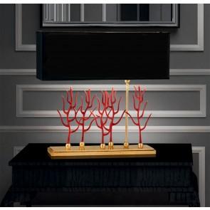 dekorative Tischleuchte Corallo rosso