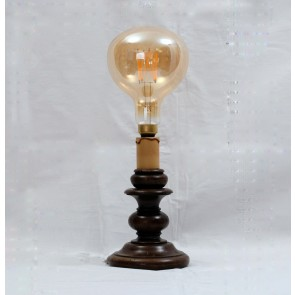 DEE Holztischlampe mit XXL LED-Bulb