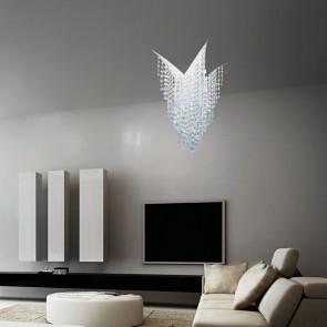 Deckenleuchte Fonte di Luce von KOLARZ  D. 80 cm Kristallglas transparent