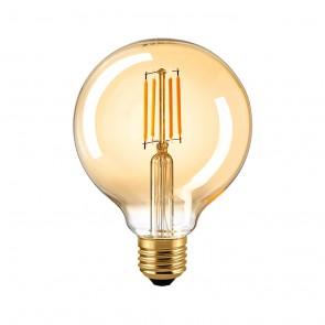 4,5 W Filament Globelampe E 27  gold 95 mm