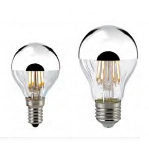 LED Kopfspiegellampe Filament silber