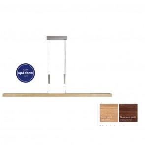 Balken-Pendelleuchte 160 cm aus Massivholz Leonora von Herzblut
