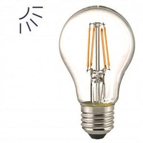 LED-Sensorlampe LED Filament klar mit Tageslichtsensor