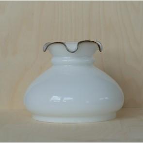 Ersatzschirm Petroleumschirm Vestraglas D. 19,3 cm opal weiss