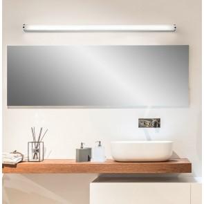 Spiegelleuchte Wand IP 44 chrom Acrylglas satiniert 120 cm Länge rund