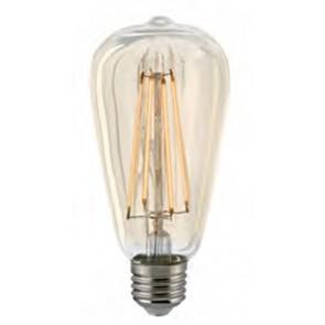 LED Rustikalampe Filament gold, dimmbar