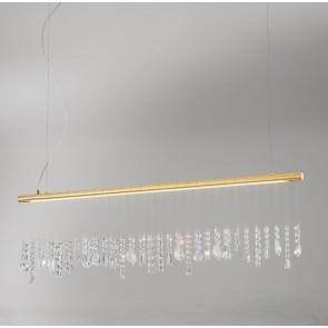STRETTA-LED Pendelleuchte von KOLARZ in 24 Karat vergoldet