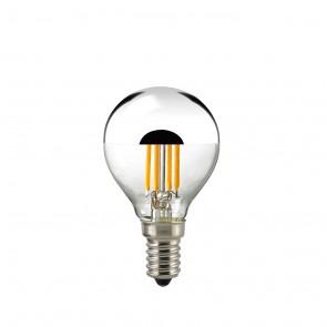 LED Kopfspiegellampe Filament silber E 14 dimmbar