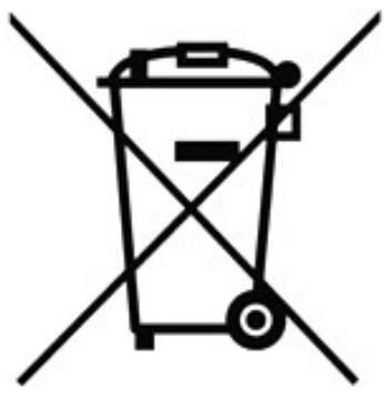 Logo durchgestrichene Abfalltonne auf Rädern